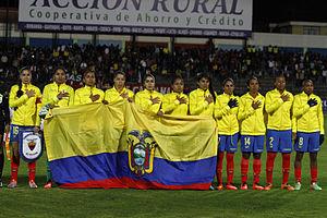 2014 Copa América Femenina - Ecuador starting eleven before the match against Peru.