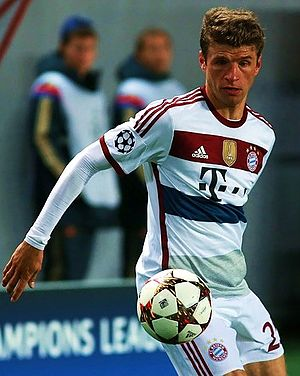 2014–15 in German football - Thomas Müller playing against CSKA Moscow