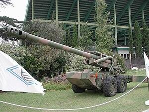 Cañón 155 mm. L 45 CALA 30 - Image: Cañón 155 mm L 45 CALA 30