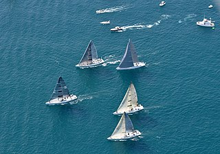 Yacht racing Sport involving sailing yachts and larger sailboats