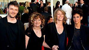 Party Girl (2014 film) - Samuel Theis, Angélique Litzenburger, Claire Burger and Marie Amachoukeli at the 2014 Cabourg Film Festival.