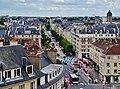 Caen Château de Caen Blick auf die Rue Montoir Poissonnerie 9.jpg