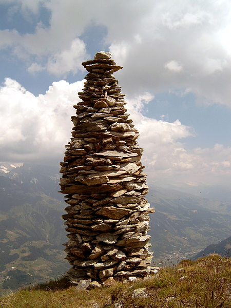 File:Cairn at Garvera, Surselva, Graubuenden, Switzerland.jpg
