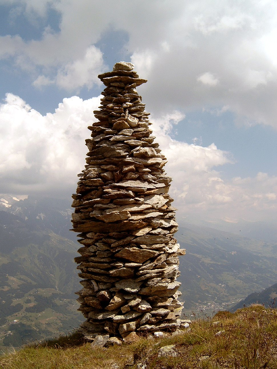 Cairn at Garvera, Surselva, Graubuenden, Switzerland