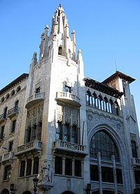 "Building ""Caixa de Pensions"" by the architect ..."
