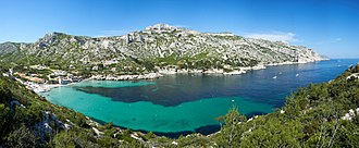 Calanque de Sormiou - Sormiou seen from the western side.