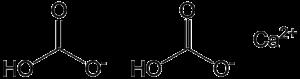 Calcium bicarbonate - Image: Calcium bicarbonate