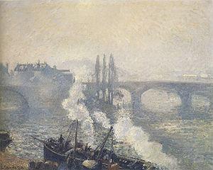 Pont Corneille, Rouen, Morning Mist
