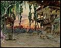 Campagna nel territorio bolognese, non lontana da Modena. L'osteria del Chiù, bozzetto di Giuseppe Palanti per La secchia rapita (1910) - Archivio Storico Ricordi ICON009471.jpg