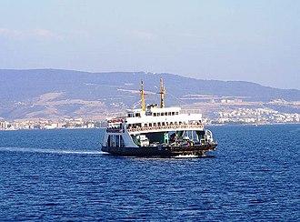 Çanakkale Province - Image: Canakkale ferry
