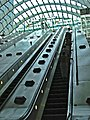 Canary Wharf Station Escalator from Jubilee Line - geograph.org.uk - 50078.jpg