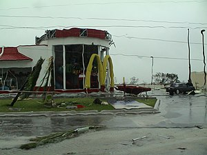 Hurricane Wilma - Damage to a McDonald's in Cancún