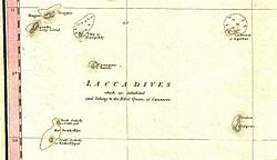 The Laccadive subgroup on an 1800 map