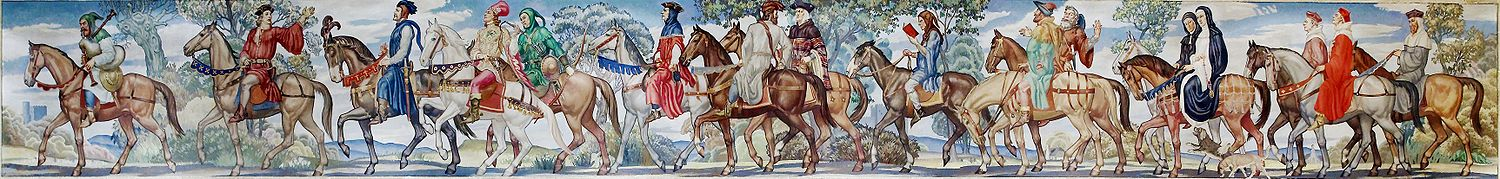 Ezra Winter, Canterbury tales mural (1939), Library of Congress, John Adams Building, Washington, D.C.