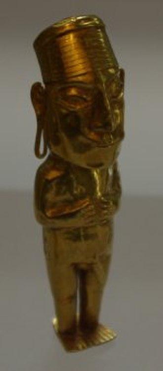 Child sacrifice in pre-Columbian cultures - Male figurine for Capa Cocha rituals, Inka, 1450-1540 CE, gold, Dumbarton Oaks Museum, Washington, DC.