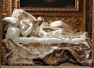 <i>Blessed Ludovica Albertoni</i> Sculpture / artwork by Gianlorenzo Bernini