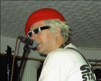 The Damned (band) - Captain Sensible performing live with The Damned at Cleethorpes in August 2006