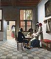 Card Players in a sunlit Room, by Pieter de Hooch.jpg