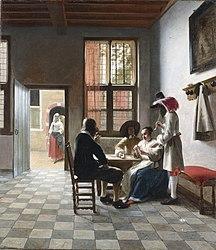 Pieter de Hooch: Cardplayers in a Sunlit Room