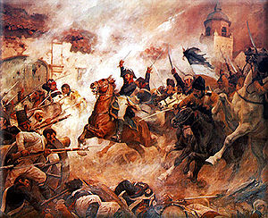 Rancagua - The Battle of Rancagua during the Chilean War of Independence, by Pedro Subercaseaux.