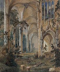 Église gothique en ruine