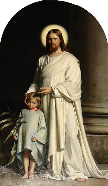File:Carl Bloch - Christ and Child.jpg
