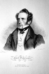 Carl Devrient, Lithographie von Josef Kriehuber, 1829 (Quelle: Wikimedia)