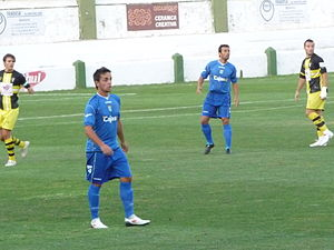 Carlos Calvo Sobrado - Calvo (left) in action for Xerez in 2009