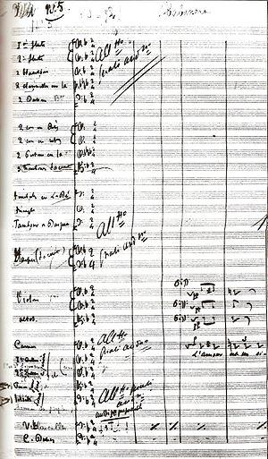 Georges Bizet's manuscript of Habanera (L'amou...
