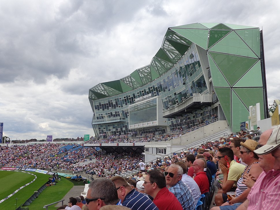 Carnegie Pavilion, Headingley Stadium, Leeds during the second day of the England- Sri Lanka test (21st April 2014) 001