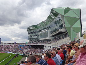 Carnegie Pavilion, Headingley Stadium, Leeds during the second day of the England- Sri Lanka test (21st April 2014) 001