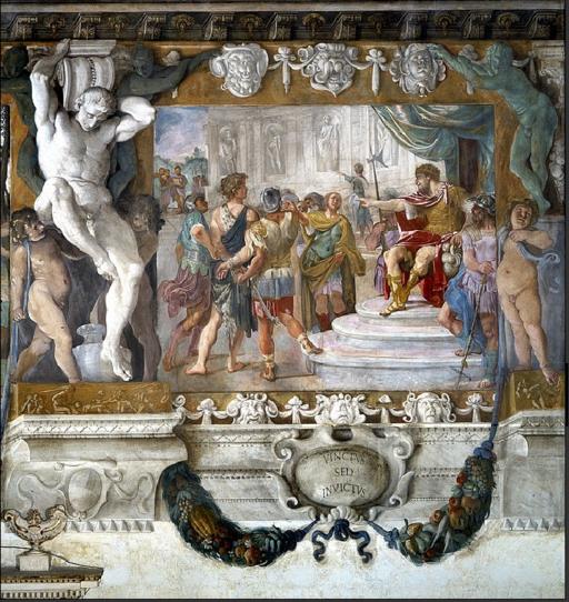 Carracci, Romolo davanti ad Amulio, Palazzo Magnani, Bologna