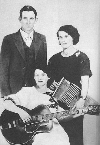 Country music - The Carter Family, are a dynasty of country music and began with (left to right) A.P. Carter, wife Sara Carter and Maybelle Carter