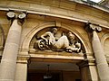 Carving above the modern portico of Eltham Palace - geograph.org.uk - 1569630.jpg