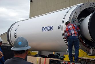 Castor (rocket stage) - A Castor 120 that will be used as Stage 0 of a Taurus XL rocket
