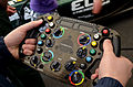 Caterham steering wheel at Goodwood 2012.jpg