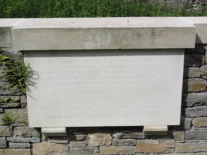 Caulaincourt (Aisne) Trefcon Britsh Cemetery