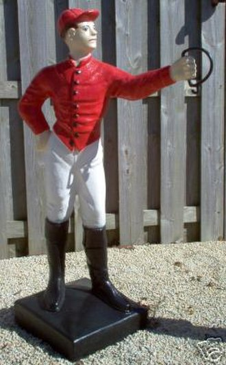 "Lawn jockey - The ""Cavalier Spirit"" style hitching post"