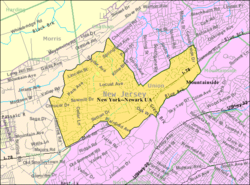 Census Bureau map of Berkeley Heights, New Jersey
