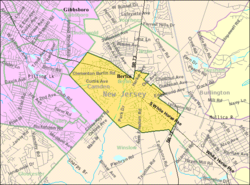 Census Bureau map of Berlin, New Jersey