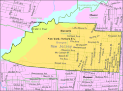 Census Bureau map of Haworth, New Jersey