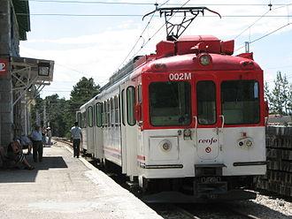Cercanías - Image: Cercanias madrid c 9 line train cotos