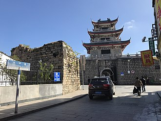 Chaozhou - The Lower Water (Xiashui) Gate and ruins of city wall of Chaozhou.