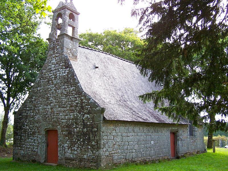 View of the chapel Notre-Dame-de-Becquerel (17th century) of Kernec, Languidic (Morbihan, Brittany, France).