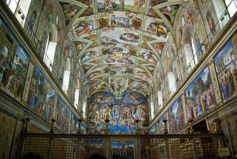 Chapelle sixtine vikidia l encyclop die des 8 13 ans for Exterieur chapelle sixtine