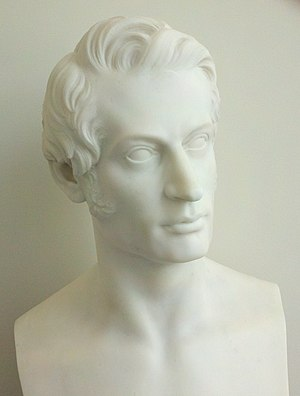Charles Sumner - An 1842 bust of Charles Sumner by Thomas Crawford
