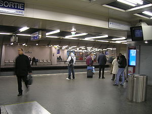 Châtelet - Les Halles Station - RER lines on the lowest level