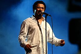 Cheb Khaled performing in Oran in July 2011