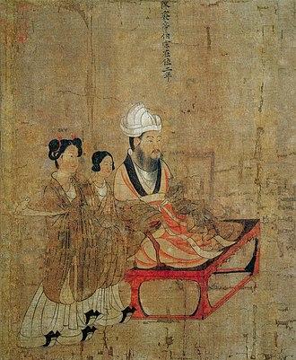 Emperor Fei of Chen - Tang dynasty portrait of Emperor Fei by Yan Liben