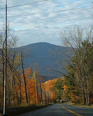 Cheshire, Massachusetts - A view of Mount Greylock from the northeast part of town